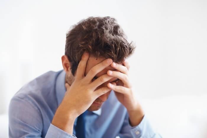 man depressed outpatient