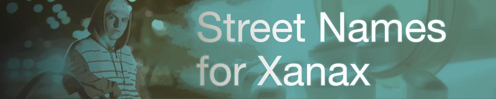 xanax street names